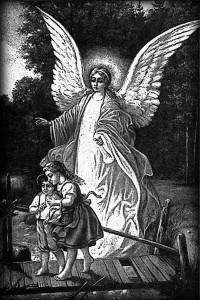 Гравировка ангела и детей РС16