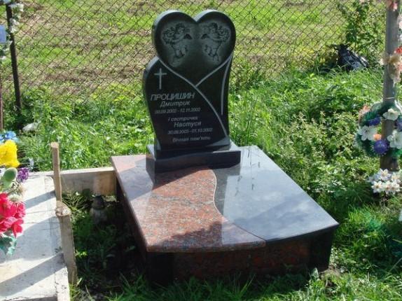 Комбинированный надгробный памятник для младенца