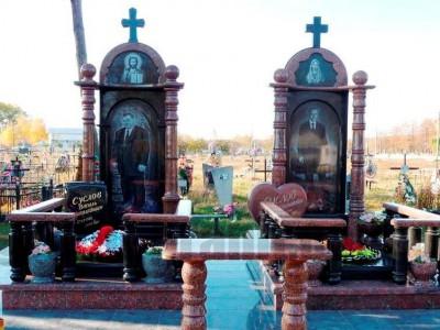 Эксклюзивный надгробный памятник для двоих