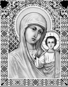Гравировка иконы Божьей Матери Казанской ИК-19 для памятника
