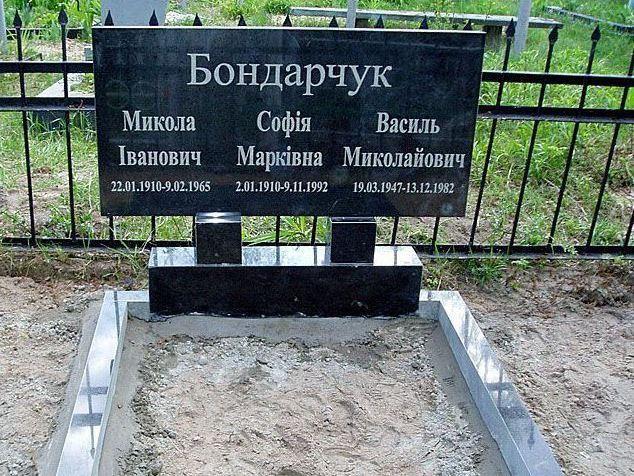 Памятник для троих