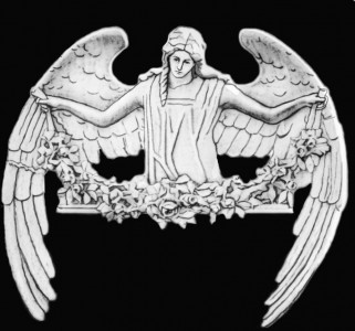 Гравировка ангела с цветами РС19