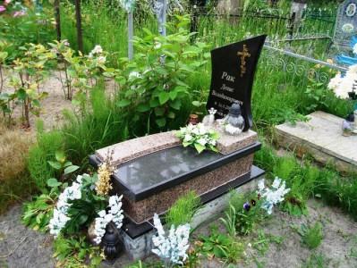 Оформление гранитного памятника для младенца