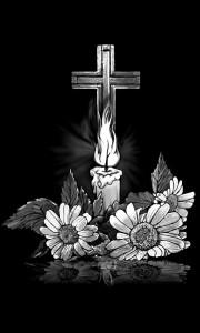 Гравировка креста со свечой КРН 18