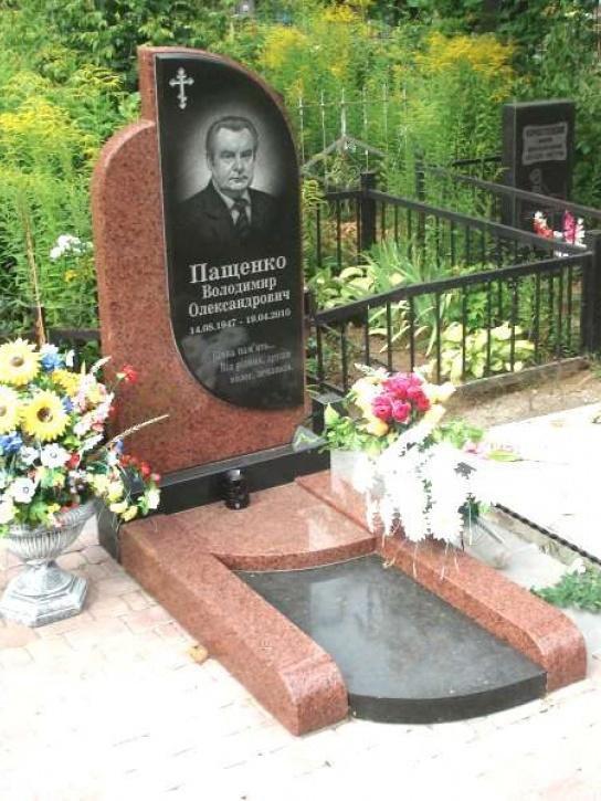 Комбинированный памятник с гранитным надгробием