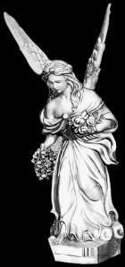 Гравировка ангела с розами РС12