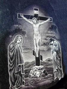 Гравировка Иисуса Христа для памятника