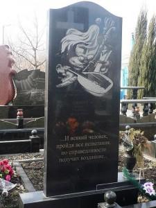 Вертикальный памятник на могилу музыканта
