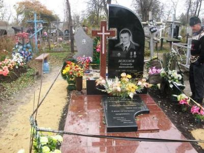 Мужской элитный памятник с резным крестом