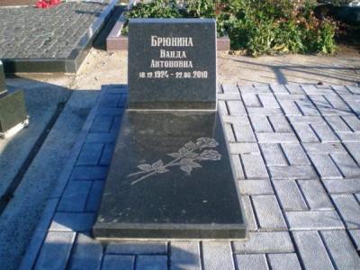 Одинарный гранитный памятник черного цвета