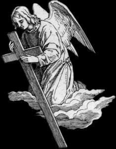 Гравировка ангела с крестом РС13