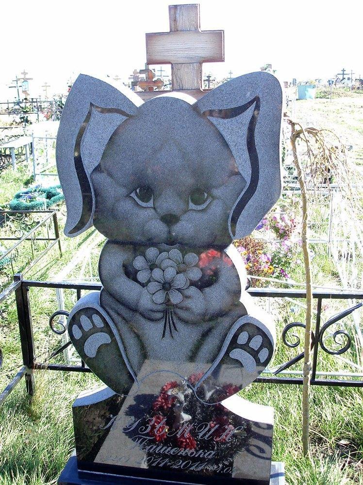 Элитный резной памятник для ребенка