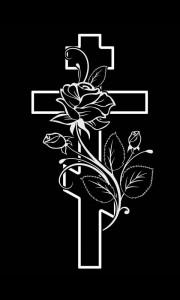 Гравировка крест и розы КРН20