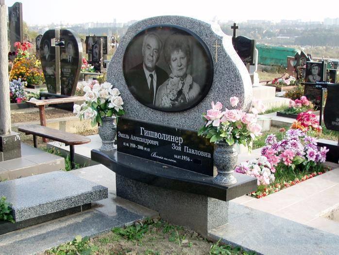 Двойной памятник из покостовского гранита