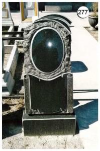 Стандартная стелла с гравировкой и резной работой №277