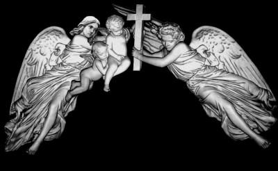 Гравировка ангелов и младенцев РС1