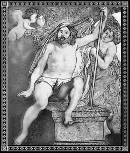 Гравировка картины Воскресение Христа-ретушь РС-24