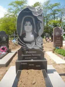 Стандартный женский памятник с резной работой №16