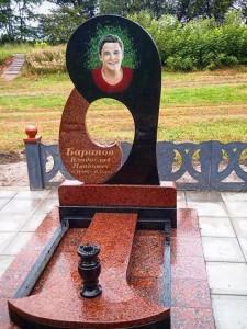 Эксклюзивный надгробный памятник на могилу юноши