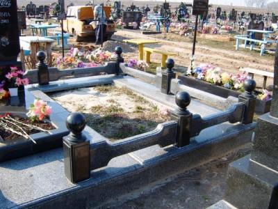 Элитная гранитная ограда для памятника