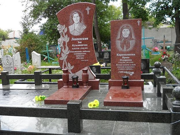 Элитный женский памятник из красного гранита