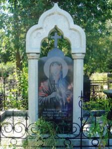 Эксклюзивный памятник с гравировкой Божьей Матери