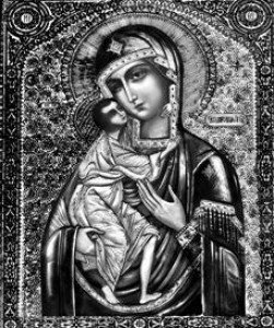 Гравировка иконы Божией Матери Феодоровской ИК-10