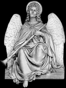Гравировка ангела с крыльями РС17