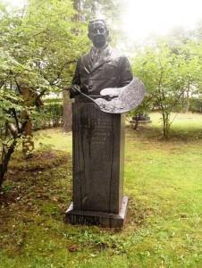 Памятник с бюстом на могилу учителя