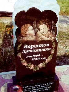 Элитный детский памятник с ангелочками