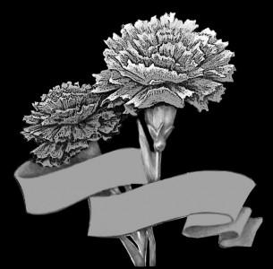Гравировка гвоздик с лентой ЦВ20