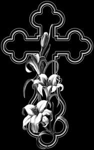 Гравировка крестика с лилиями КРН22