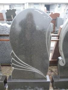 Стандартный черный гранитный памятник №4