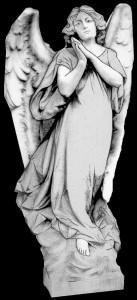 Гравировка женщины ангела РС9