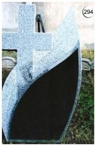 Стандартный памятник с резным крестом №294