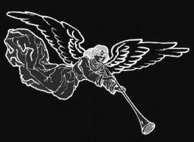 Гравировка ангела с фанфарами РС4