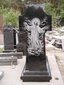 Элитный памятник с Иисусом Христом