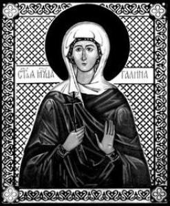 Гравировка иконы Святой Галины ИК-9