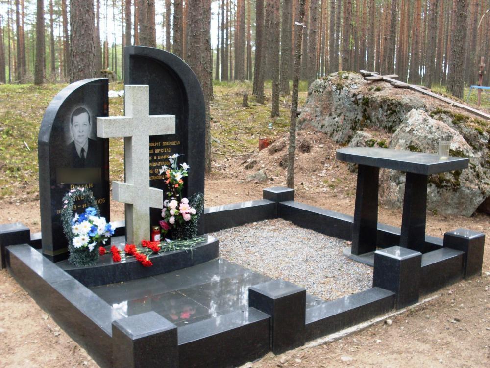 Гранитное ограждение для надгробного памятника фото