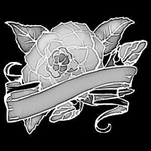 Гравировка цветка с лентой ЦВ38