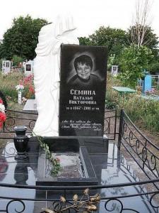 Элитный надгробный памятник для дочери