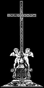 Гравировка креста с ангелами КР15