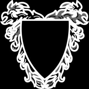 Гравировка виньетки в виде щита ВН14