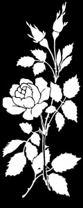Гравировка цветка розы ЦВ26