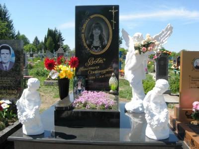 Памятник с прямоугольной стеллой для дочери
