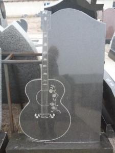 Стандартная стелла с гравировкой гитары №341