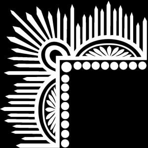 Гравировка уголка с орнаментом У14