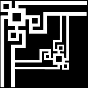 Гравировка уголка с прямыми линиями У16