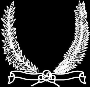 Гравировка виньетки с лентами ВН17