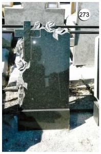 Стандартная стелла с крестом и резными розами №273